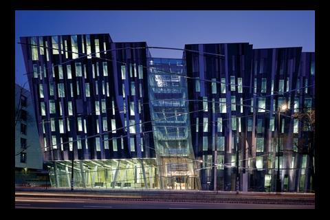 When the good times rolled... Erick van Egeraat's headquarters for ING in Budapest was completed in 2004